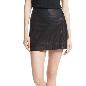 Free People Modern Faux leather pencil skirt